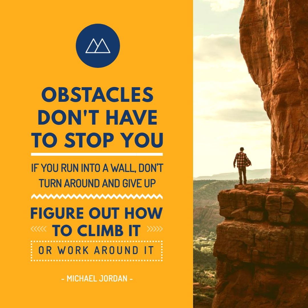 Obstacles Quote Instagram Post Template