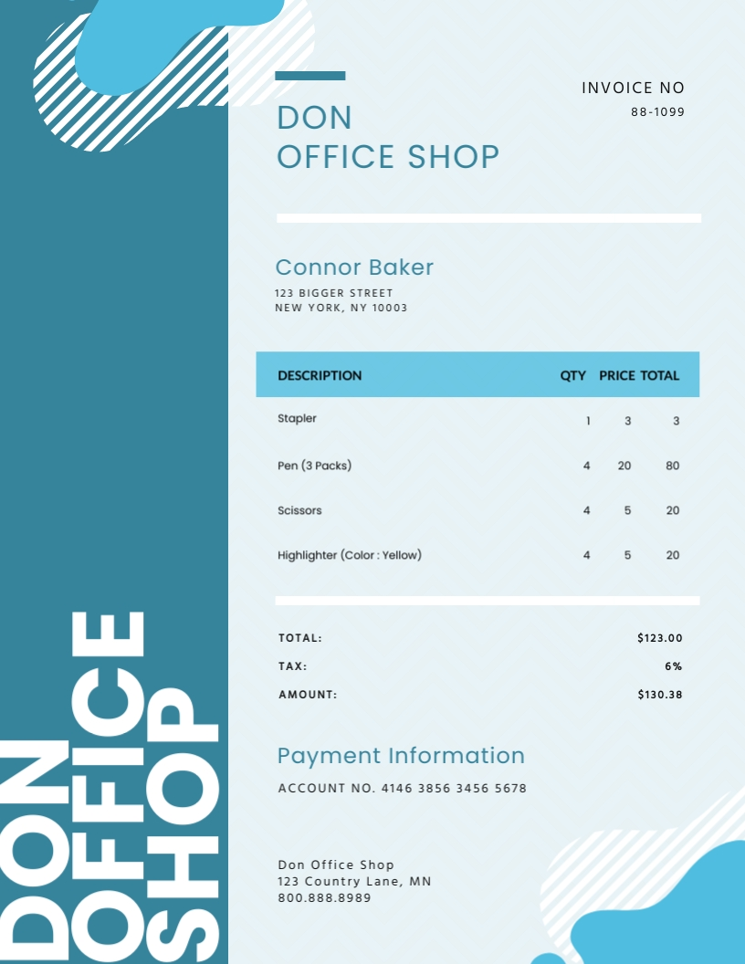 Office Shop - Invoice Template