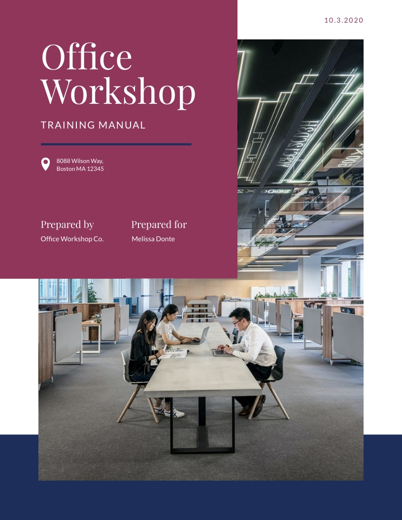 Office Workshop - Training Manual Template