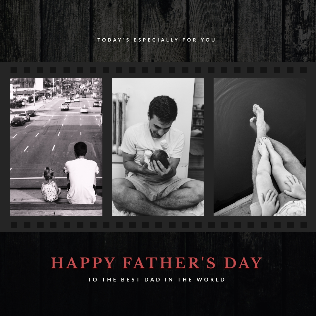 Old Film Fathers Day Instagram Post Template