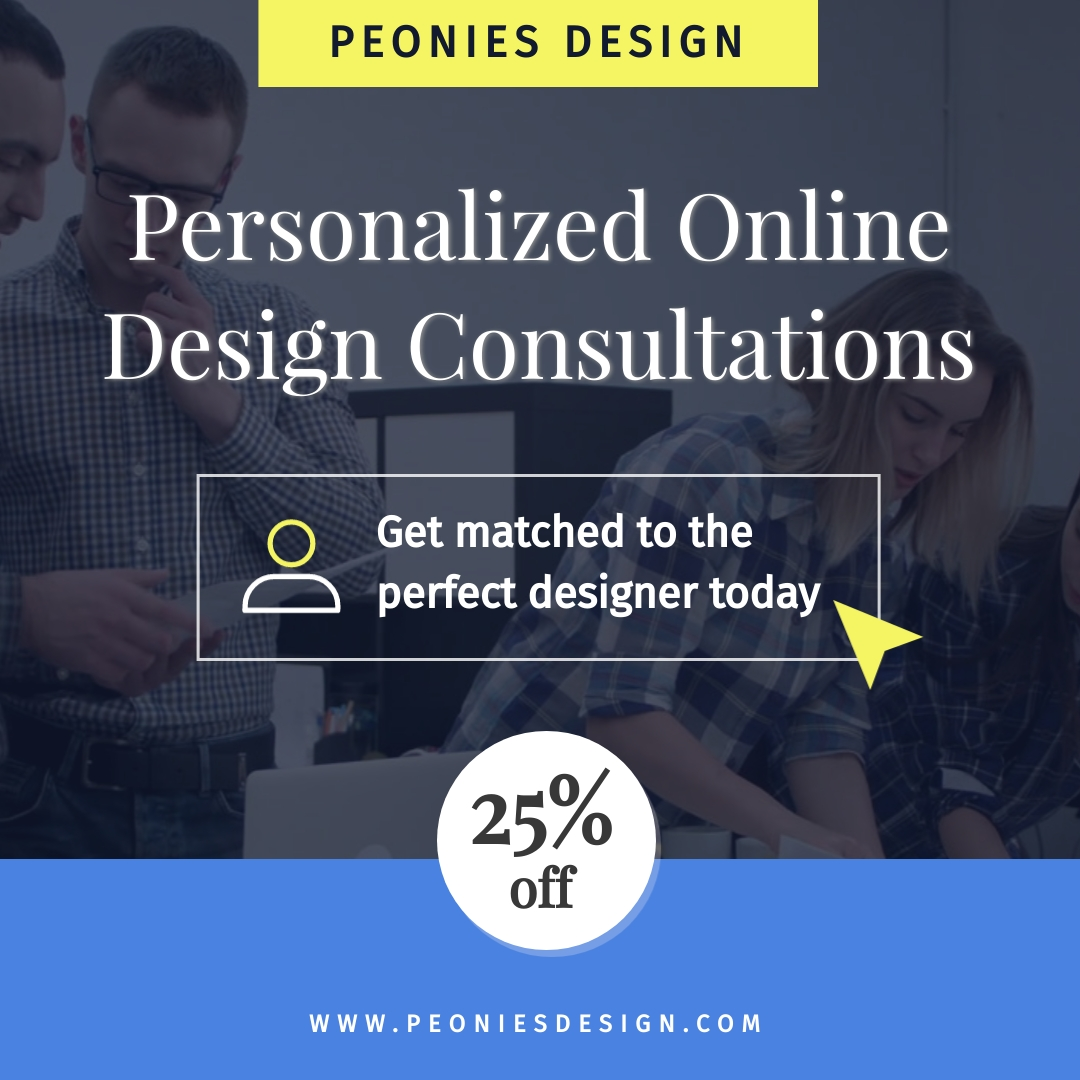 Online Interior Design Consultation Bite-Sized Ad Square Template