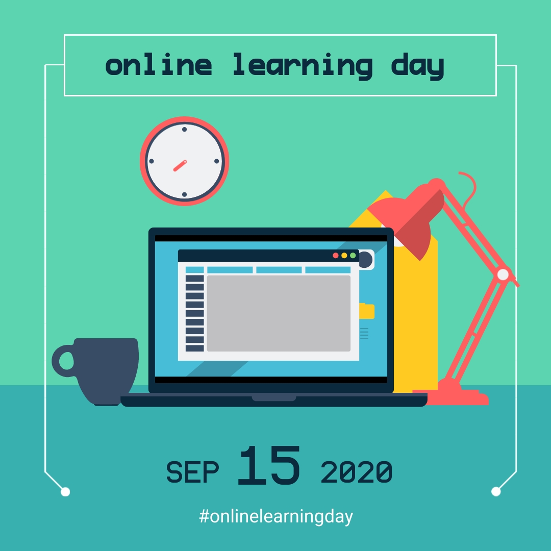 Online Learning Day Hashtag Animated Square Template