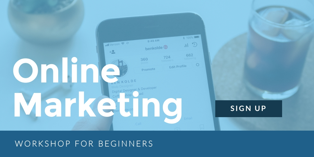 Online Marketing Workshop Twitter Post  Template