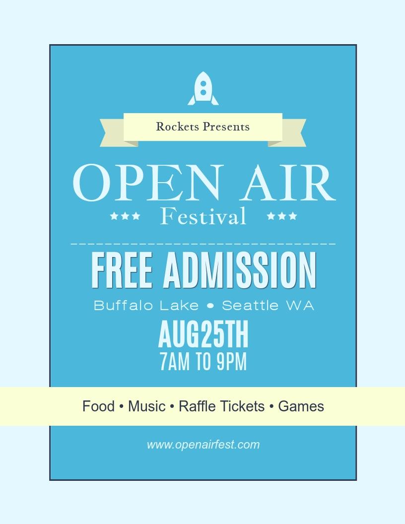 Open AIr Festival - Flyer Template