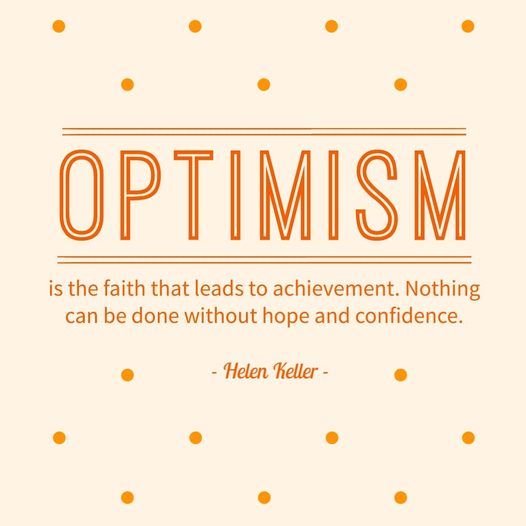 Optimism Helen Keller Instagram Post   Template