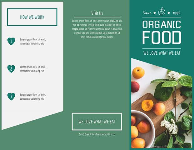 Organic Food - Trifold Brochure  Template