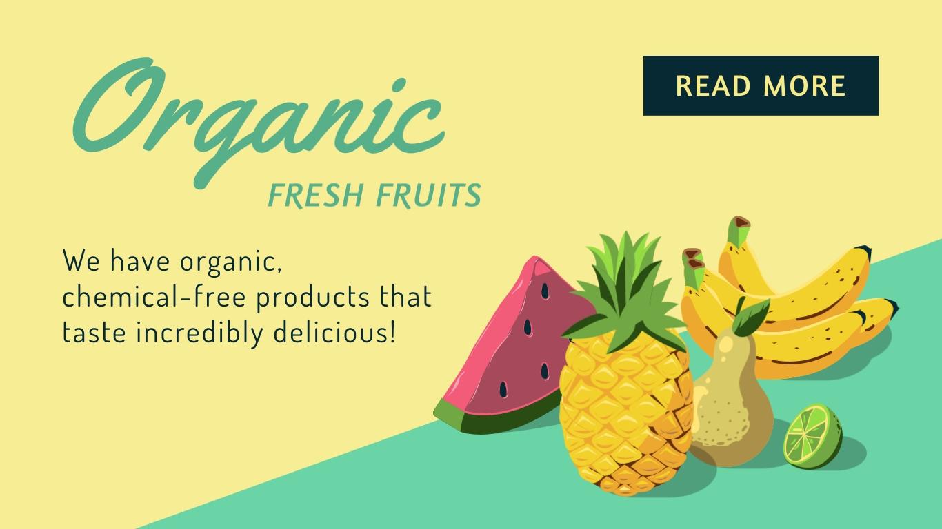 Organic Fresh Fruit - Twitter Ad Template