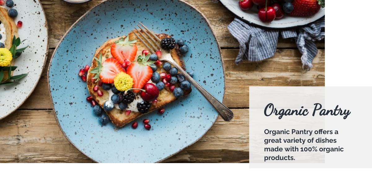 Organic Pantry Facebook Ad  Template