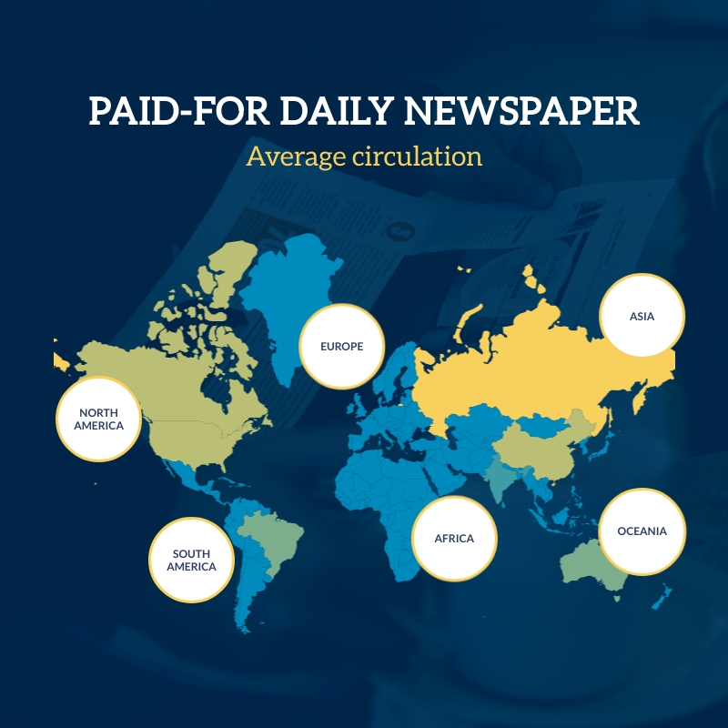 Paid For Daily Newspaper Map Square Template