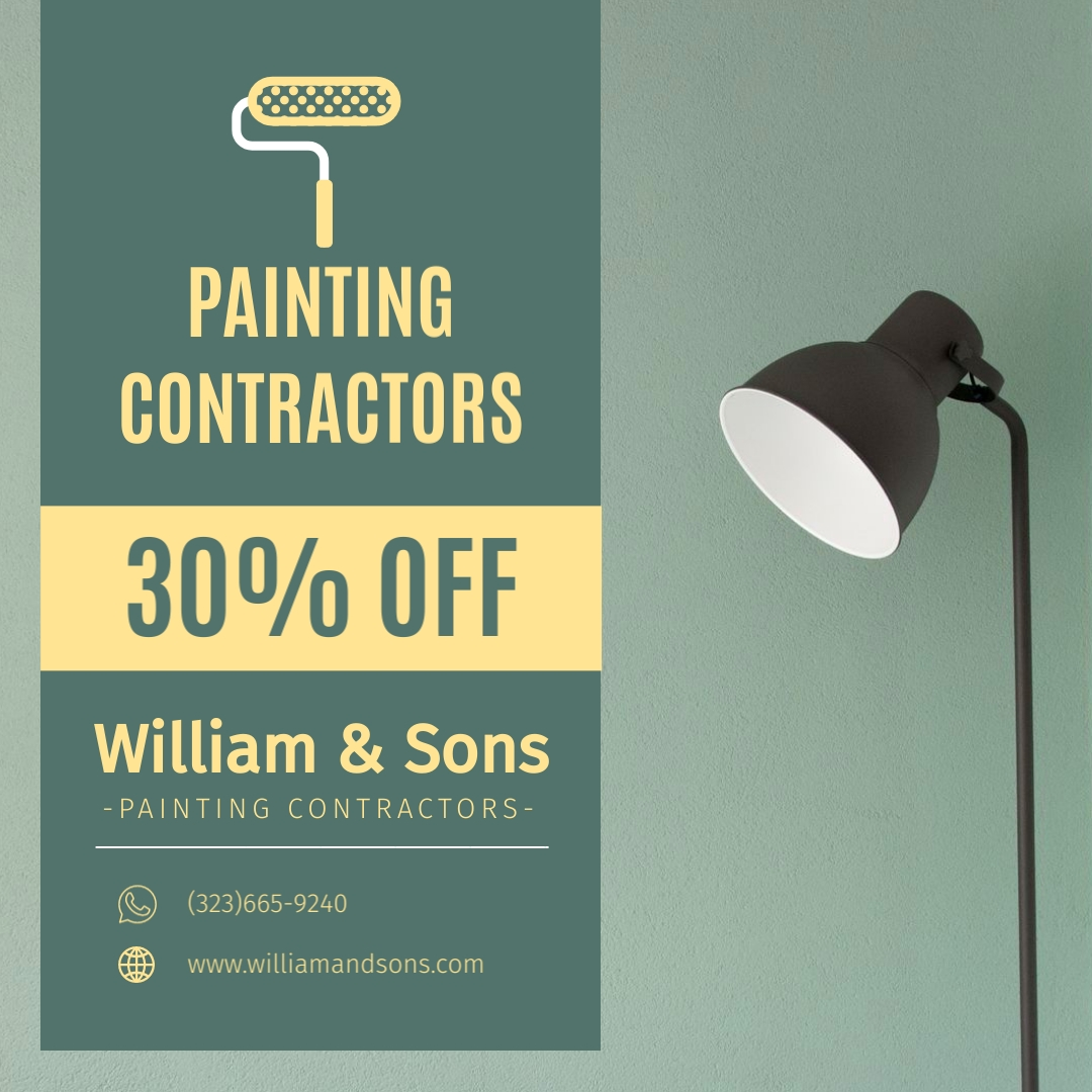 Painting Contractors Animated Square Template