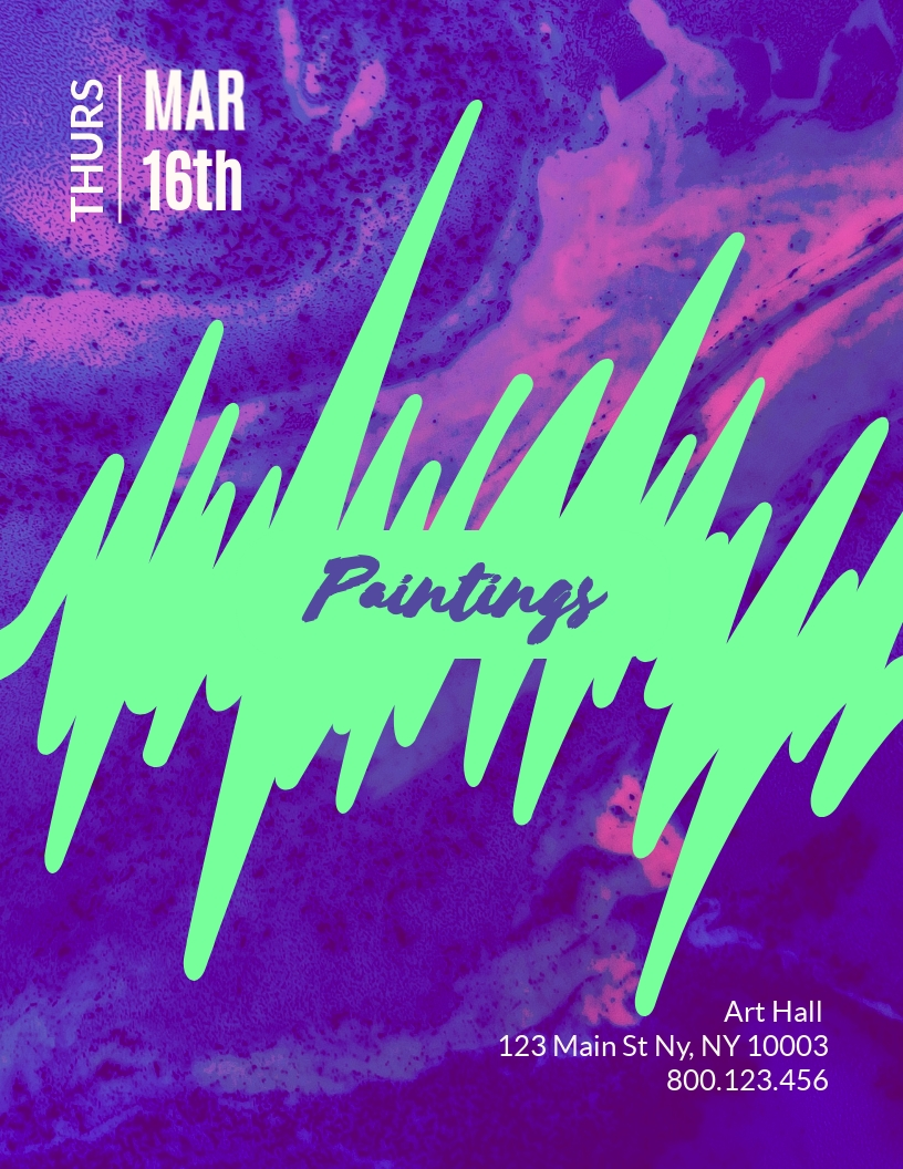 Painting - Flyer Template