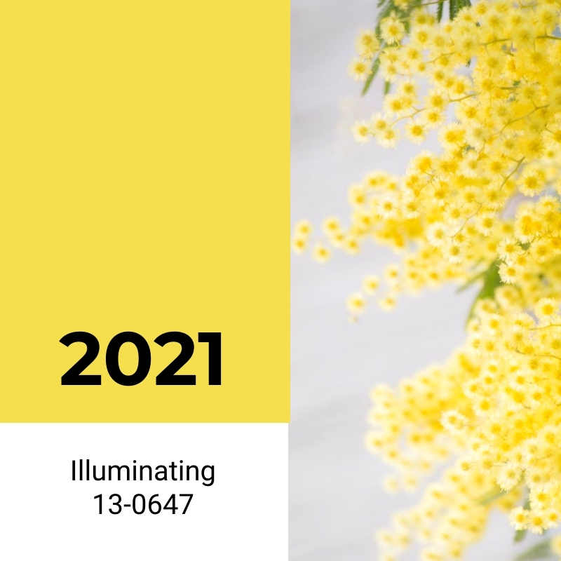 Pantone Color of the Year Yellow Blog Graphic Medium Template