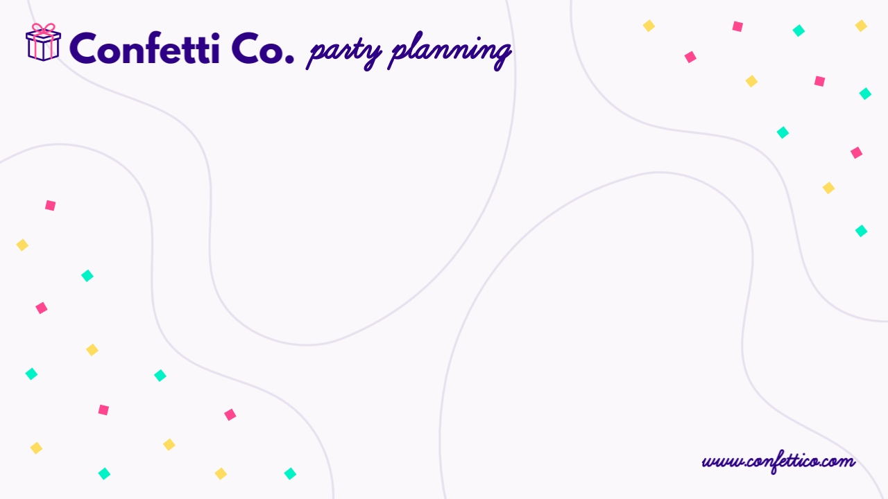 Party Planning - Zoom Background Template