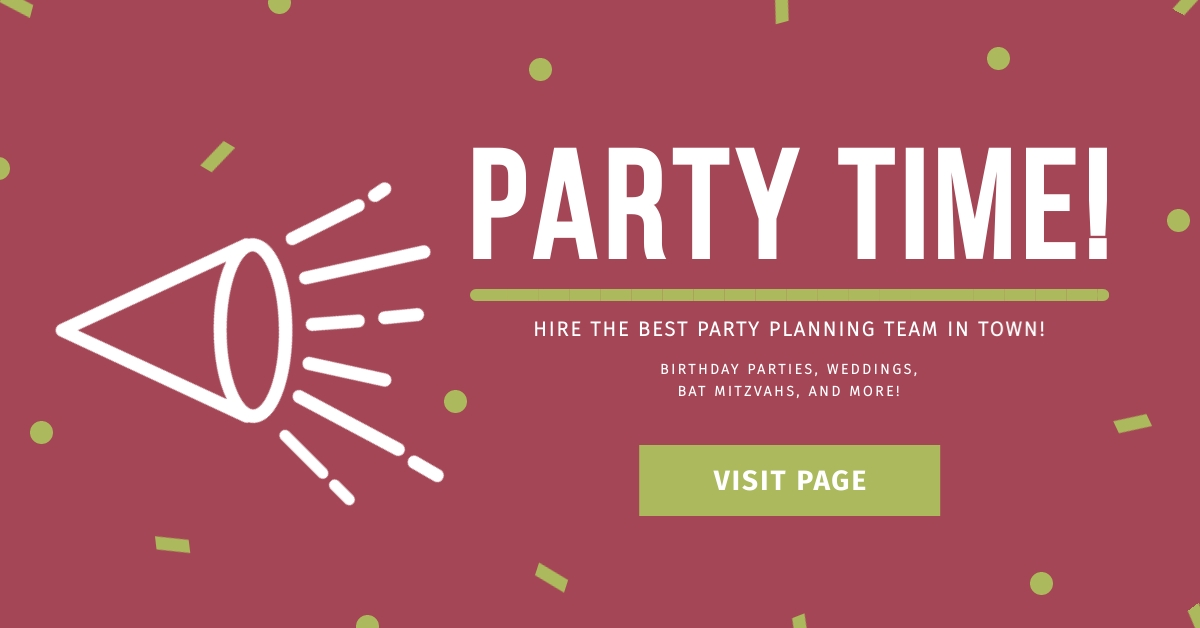 Party Time Facebook Ad  Template