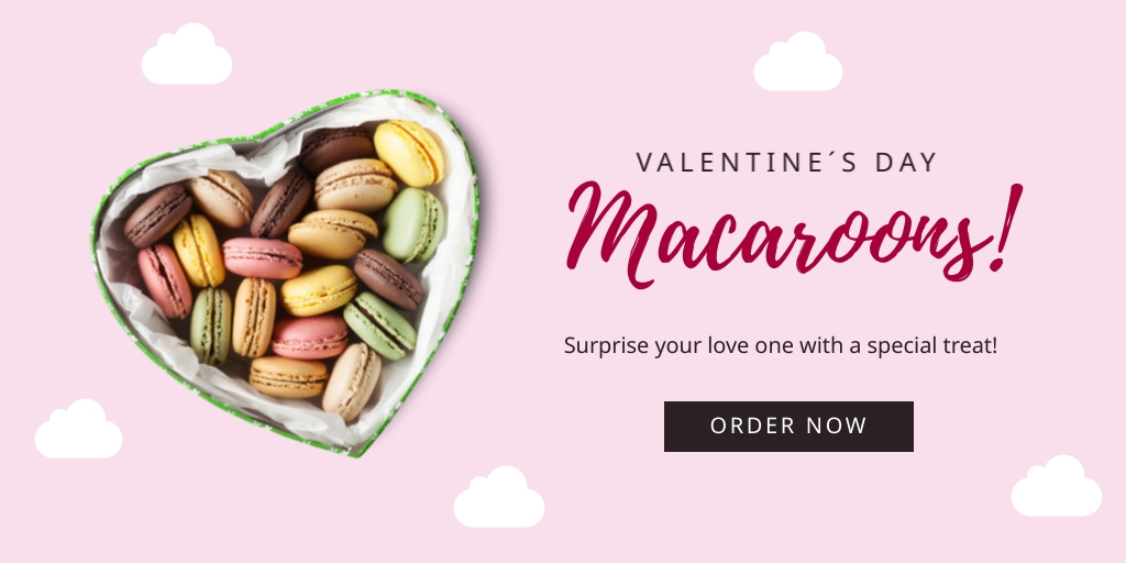 Pastry Shop Valentines Twitter Post   Template