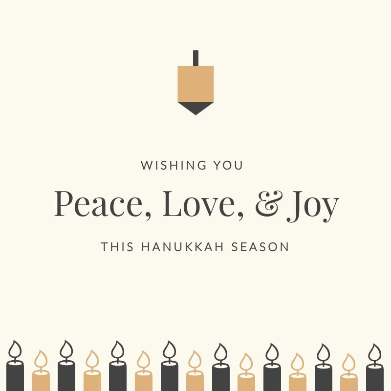 Peaceful Hanukkah Blog Graphic Medium  Template