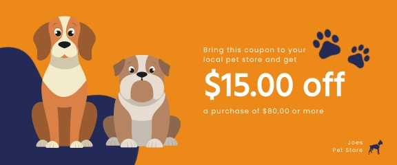 Pets Store Coupon Template