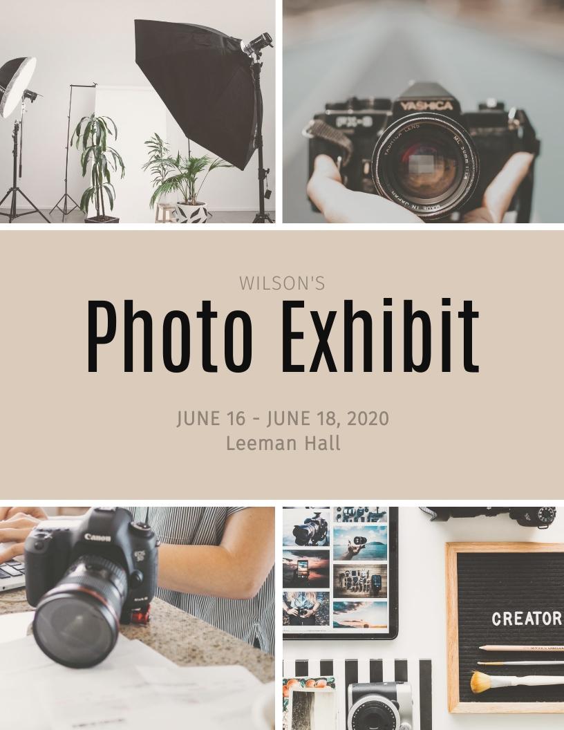 Photo Exhibit - Event Program Template