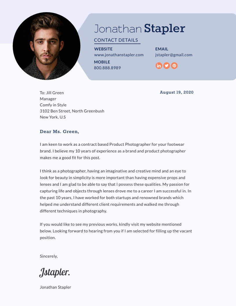 Cover Letter For Photographer from assets.visme.co