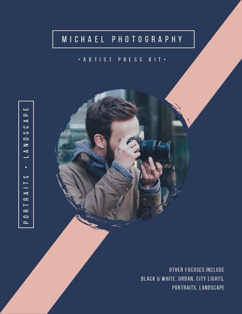 Photography Artist - Press Kit Template