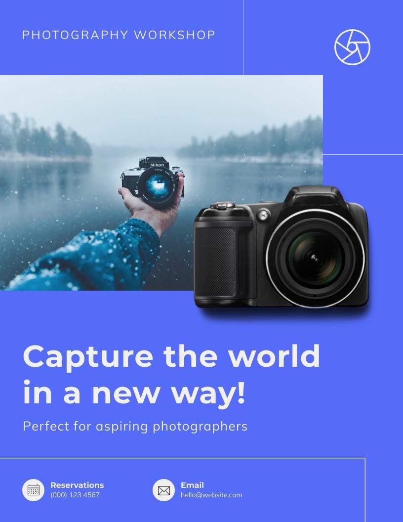 Photography Workshop Flyer Template
