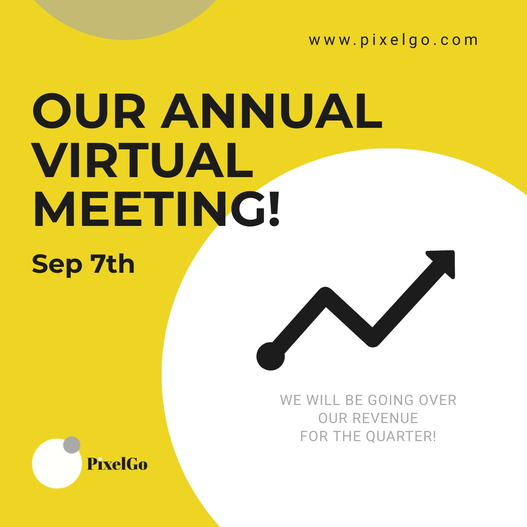 PixelGo Virtual Meeting Animated Square Template