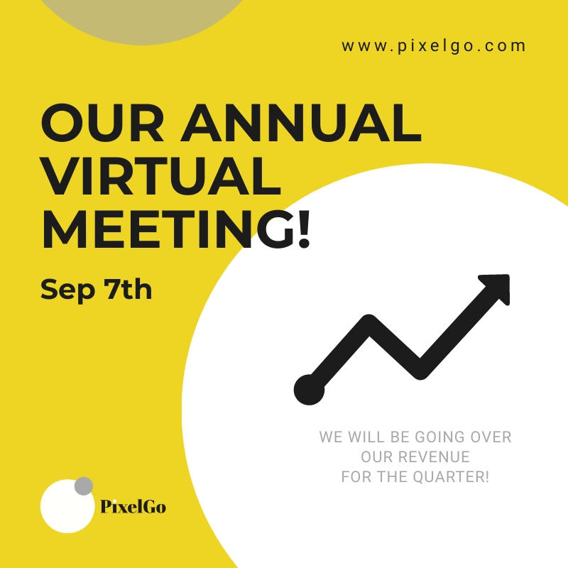 PixelGo Virtual Meeting Blog Graphic Medium Template