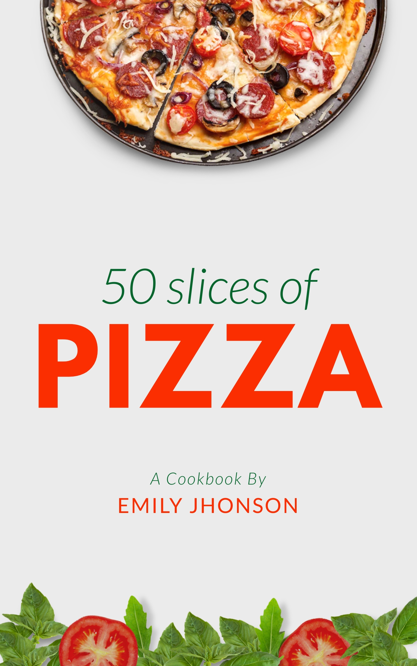 Pizza Cook Book - Book Cover Template