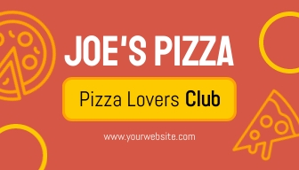 Pizza Loyalty Card Template