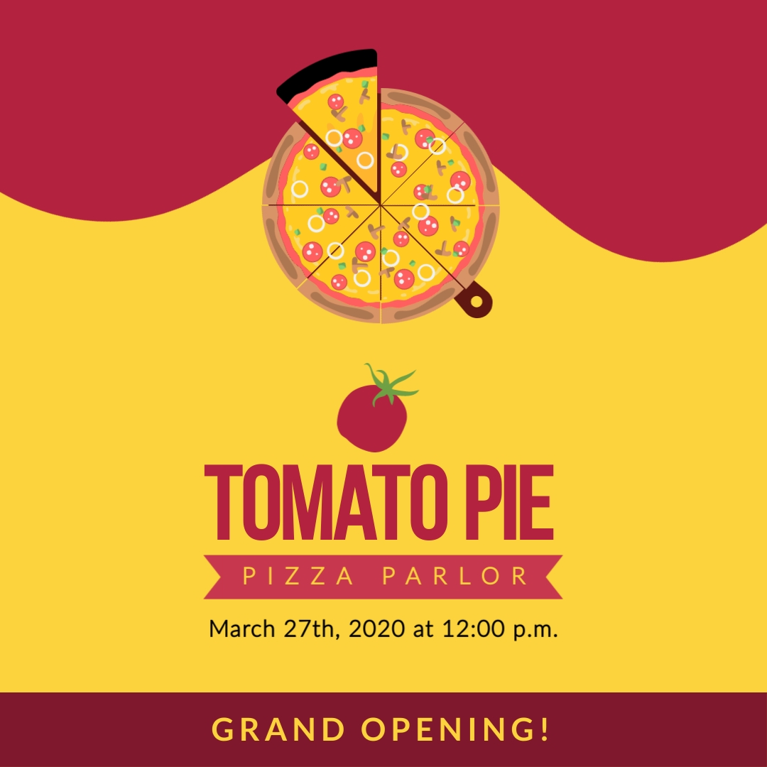 Pizza Place Square Template