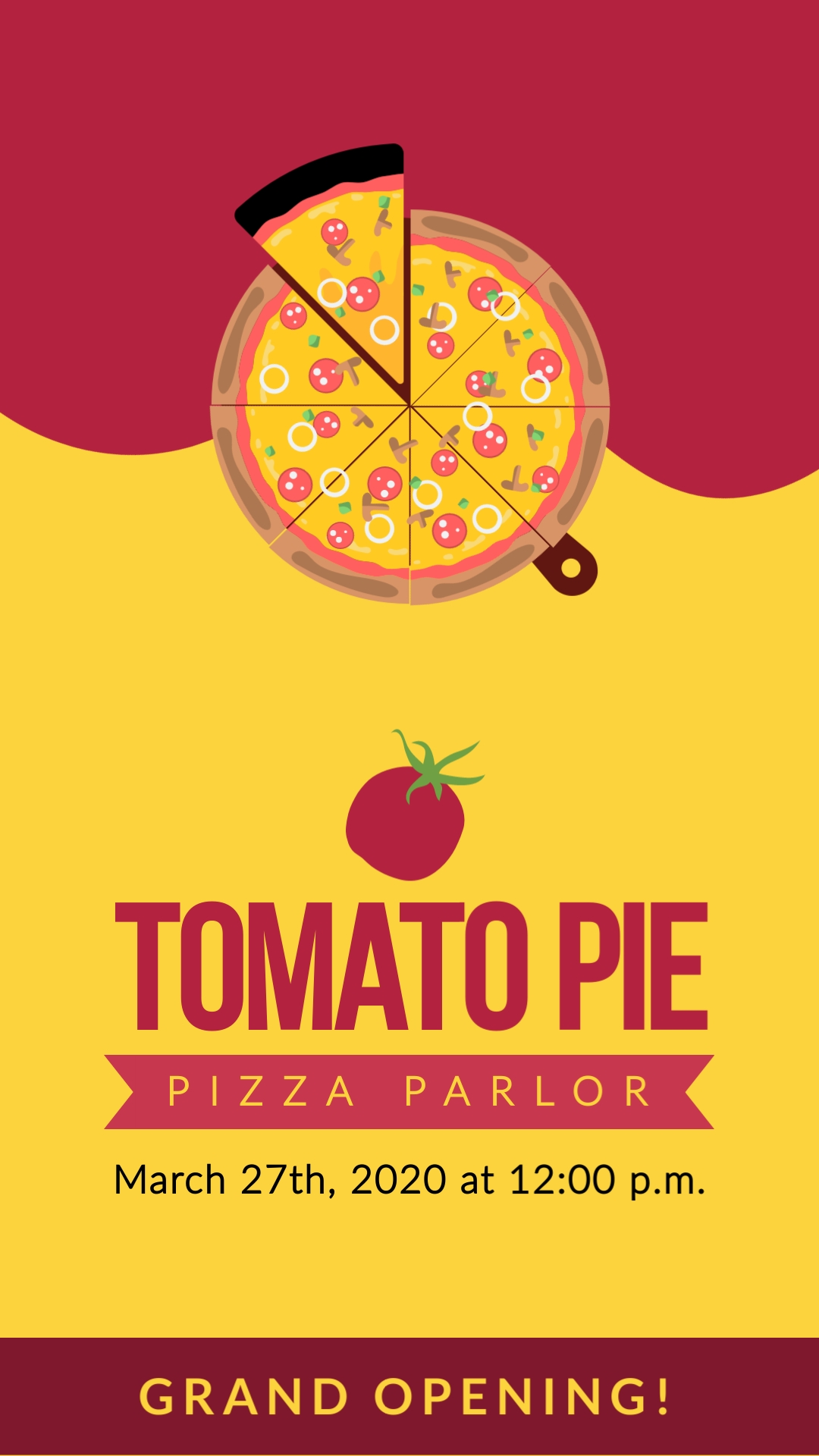 Pizza Place Vertical Template