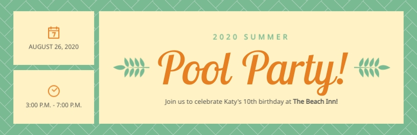Pool Party Tickets Template
