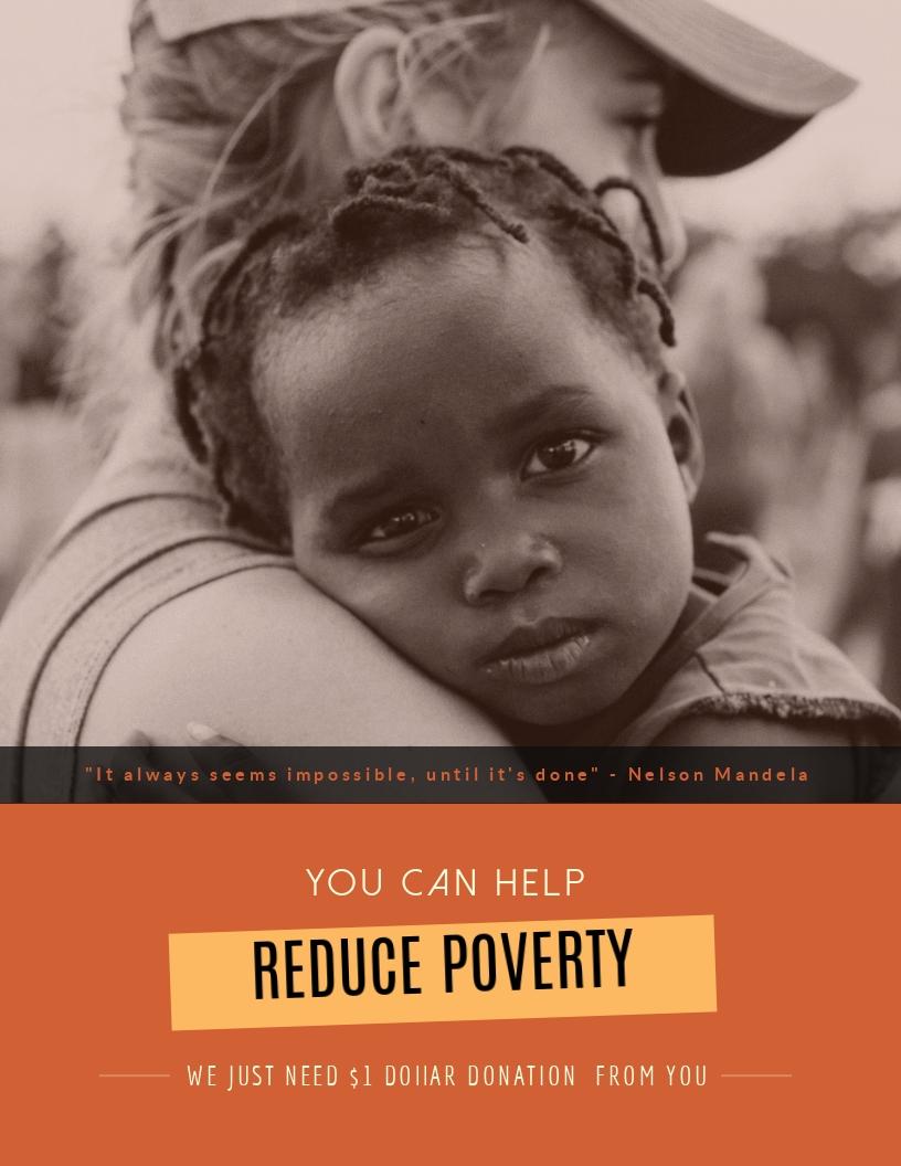 Poverty in Kenya - Flyer Template