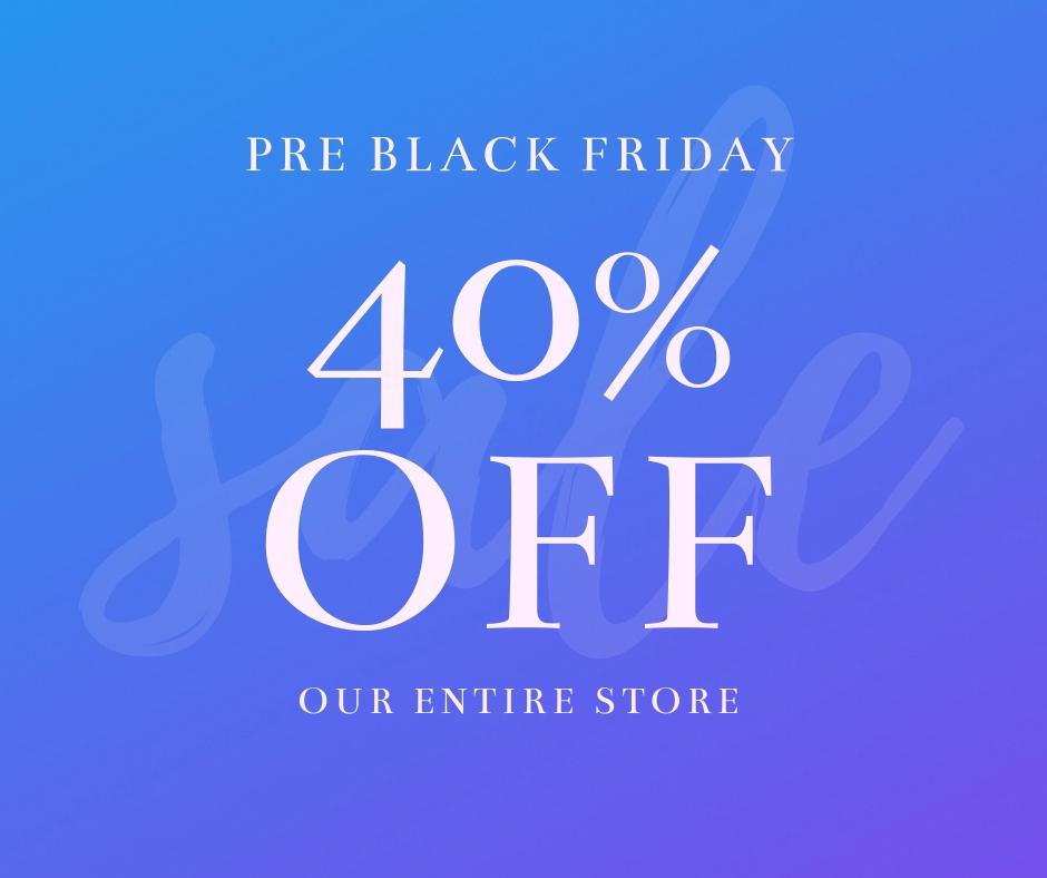 Pre Black Friday Discounts Facebook Post Template