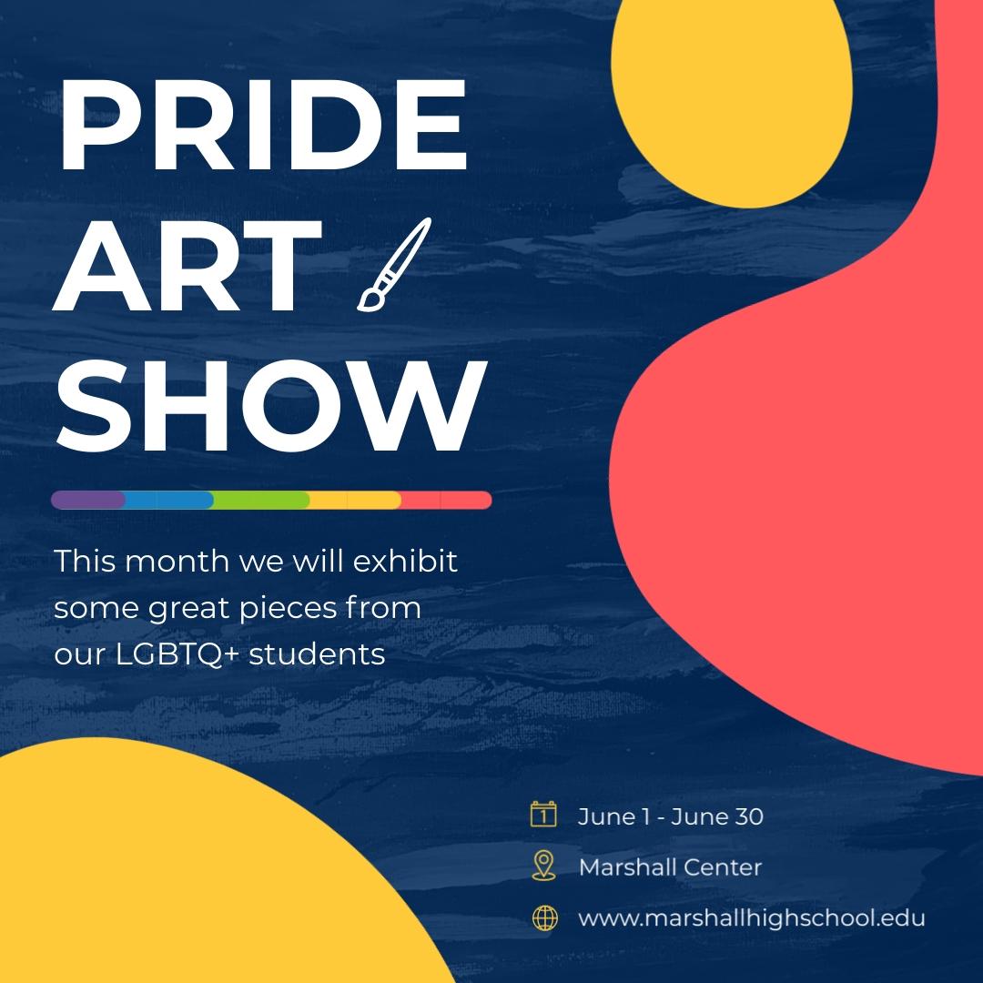 Pride Art Show Animated Square Template