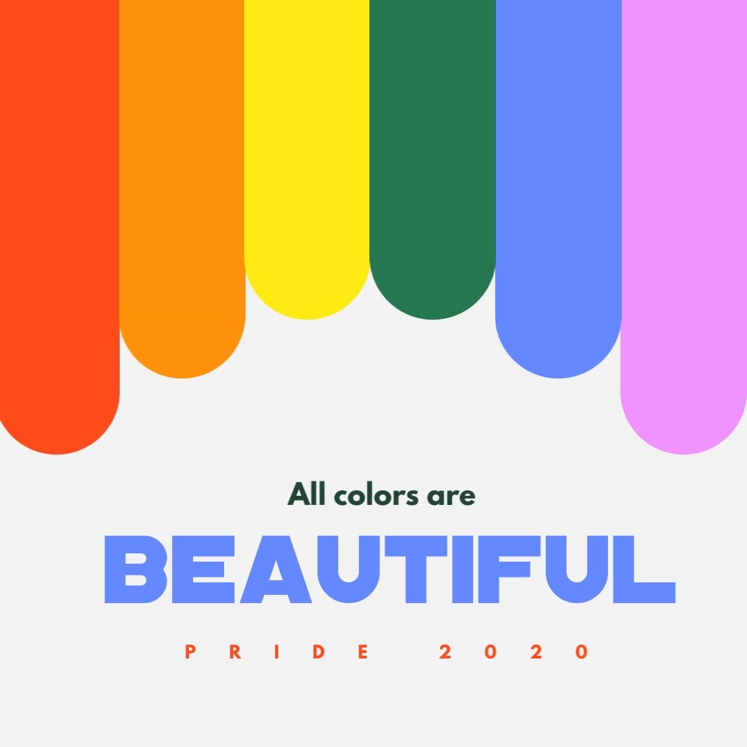 Pride Colors Instagram Post Template