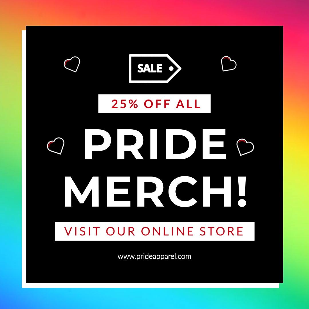 Pride Merch Sale Animated Square Template