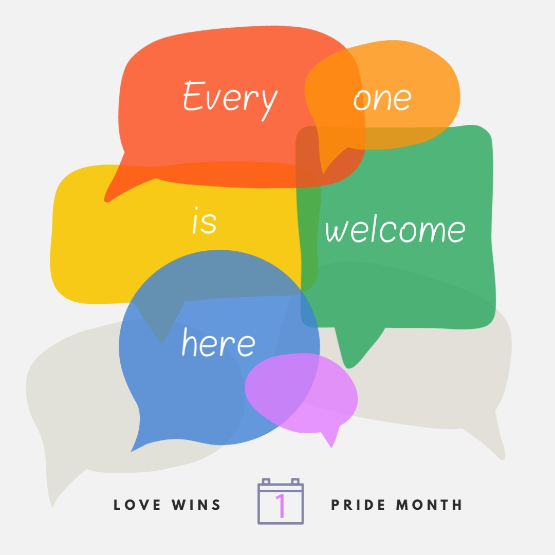 Pride Welcome Animated Square Template