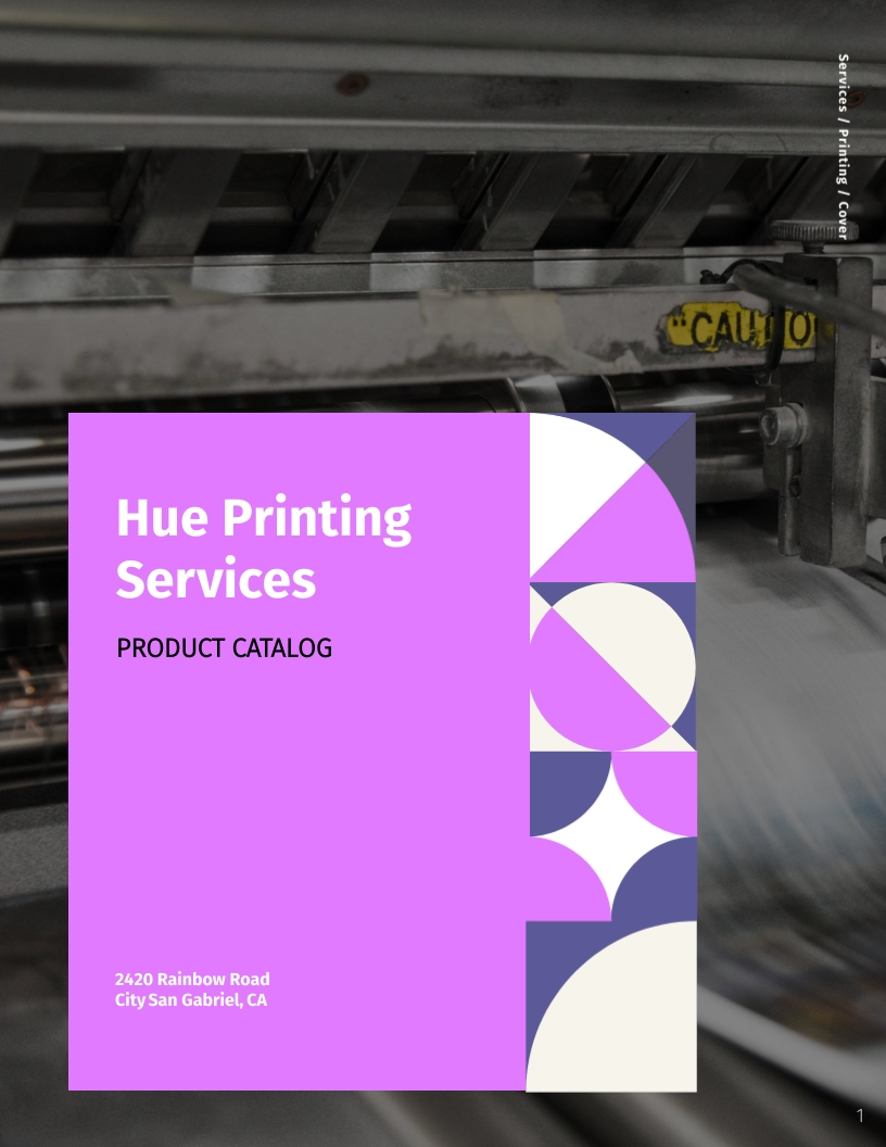 Printing Services Catalog Template