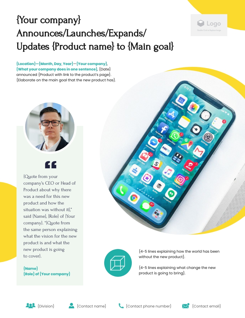 Product Launch - Press Release Template