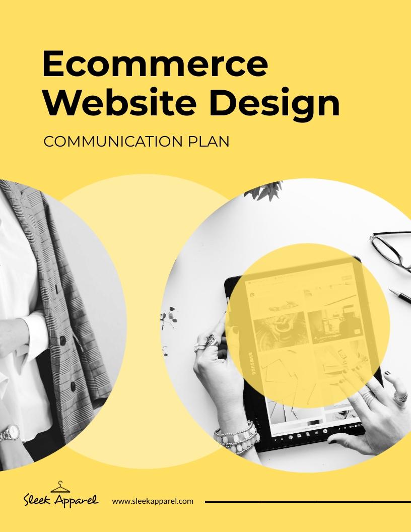 Project Management - Communication Plan Template
