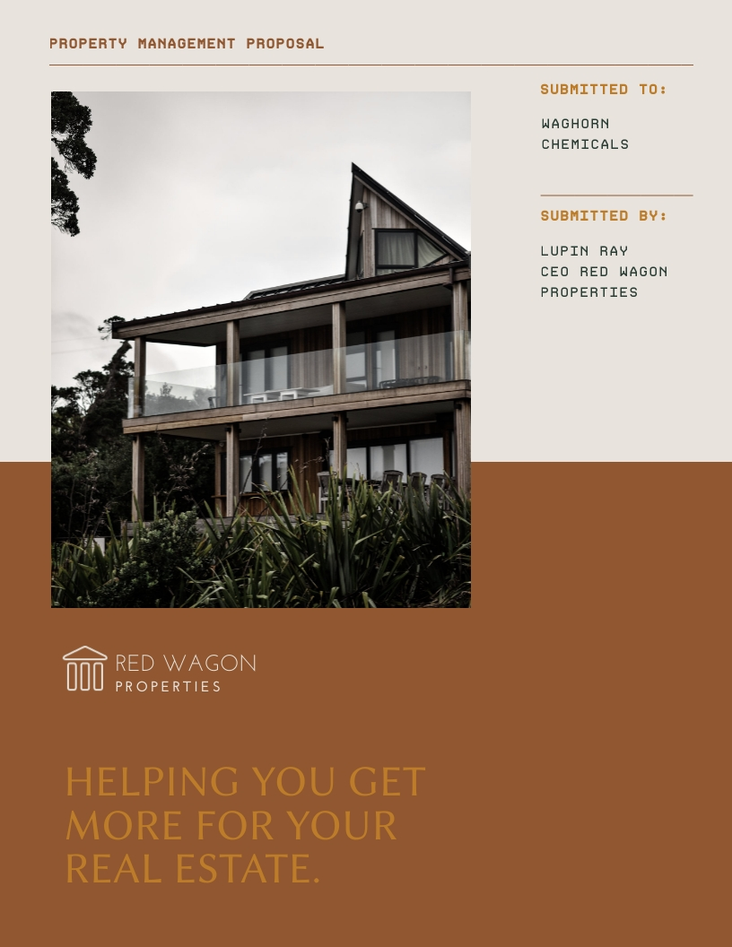 Property Management - Proposal Template