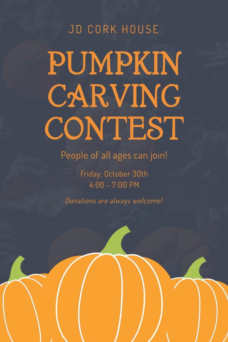 Pumpkin Carving Contest Pinterest Post Template
