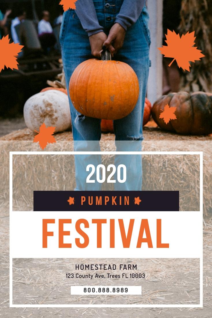 Pumpkin Festival Pinterest Post Template