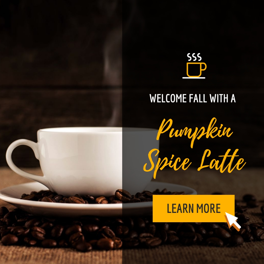 Pumpkin Spice Latte - Instagram Post Template