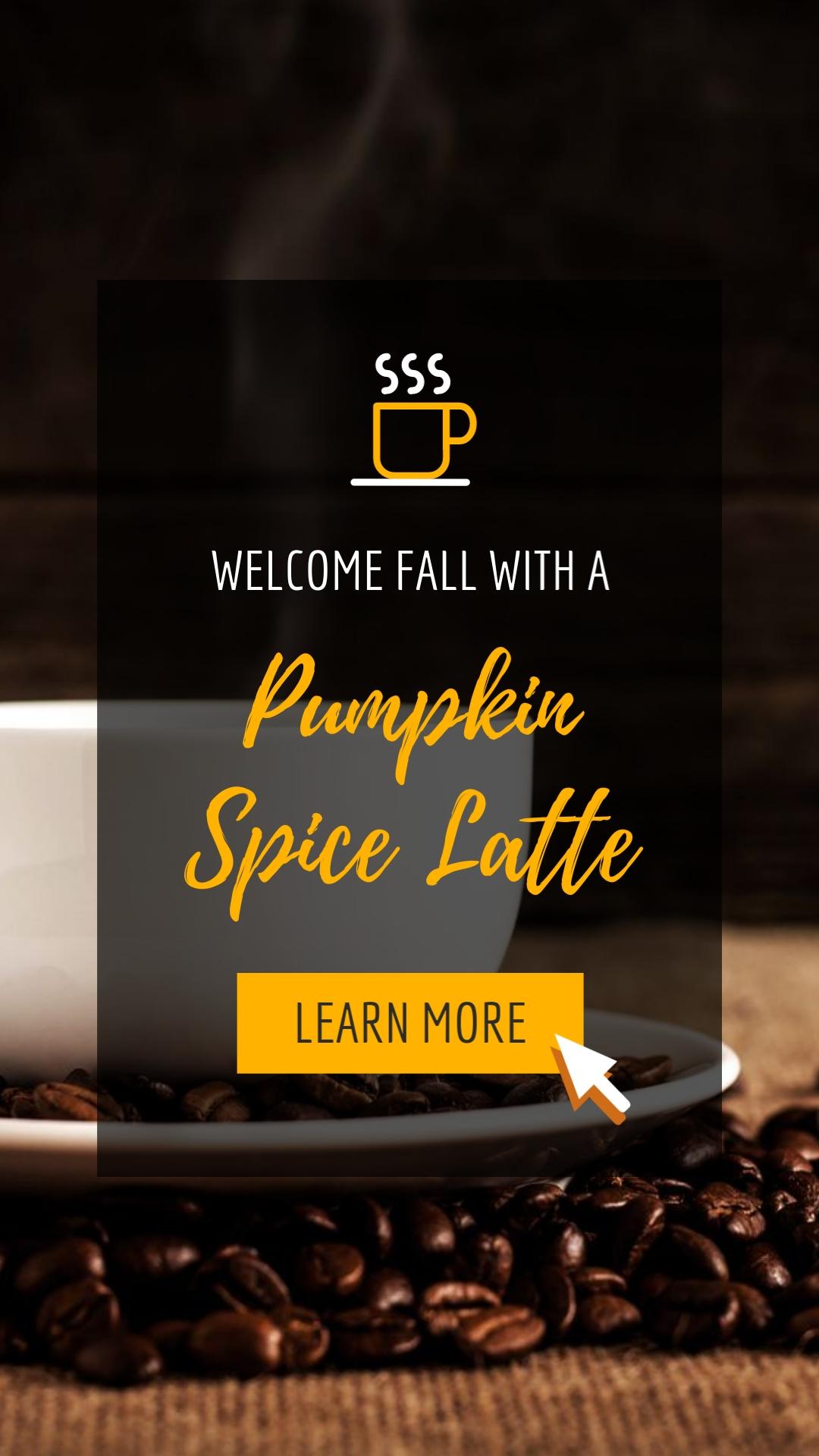 Pumpkin Spice Latte Vertical Template