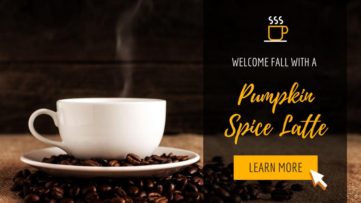 Pumpkin Spice Latte - Twitter Ad Template