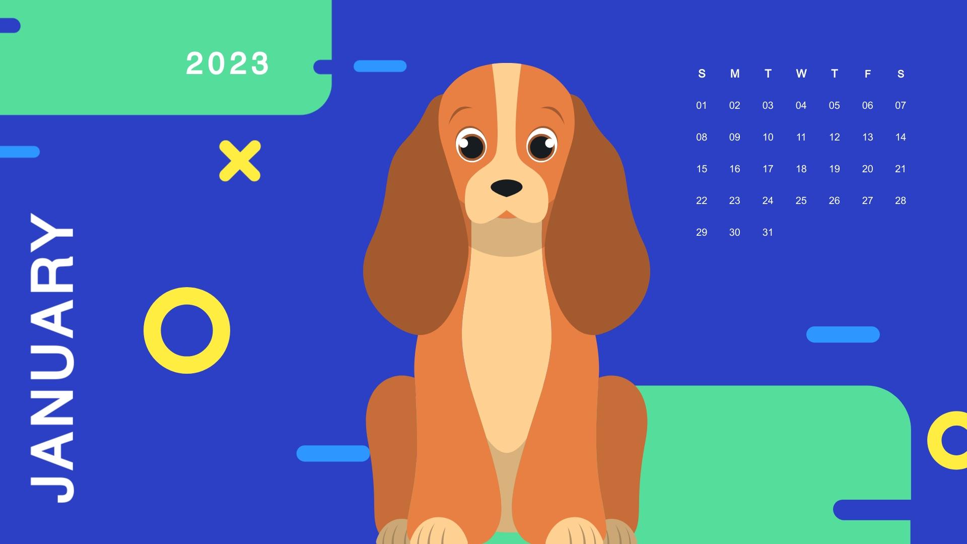 Puppies - Calendar Template