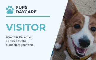 Pups Daycare Visitor - ID Card Template