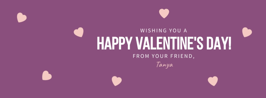Purple Valentine Wishes Facebook Cover  Template